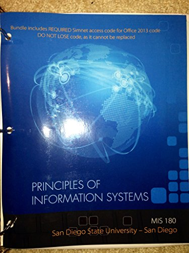 9781259323935: Principles of Information Systems-MIS180
