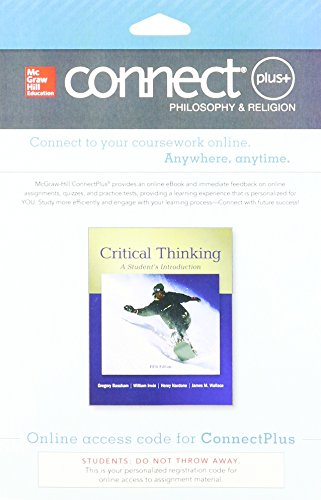 9781259325342: Connect Access Card for Critical Thinking