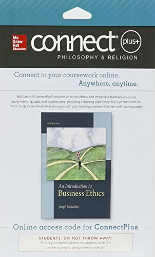 9781259327056: Connect Access Card for An Introduction to Business Ethics