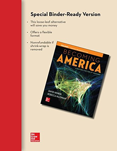 9781259328404: Becoming America Volume 1 Loose Leaf Edition with Connect Access Card One-Term