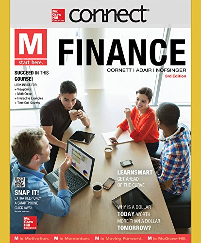 9781259328732: Connect 1 Semester Access Card to accompany M: Finance