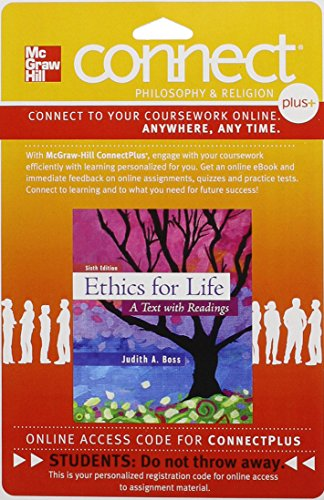 9781259330223: Connect Access Card for Ethics for Life