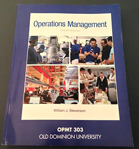 9781259330766: Operations Management (OPMT 303 Custom Old Dominion University)
