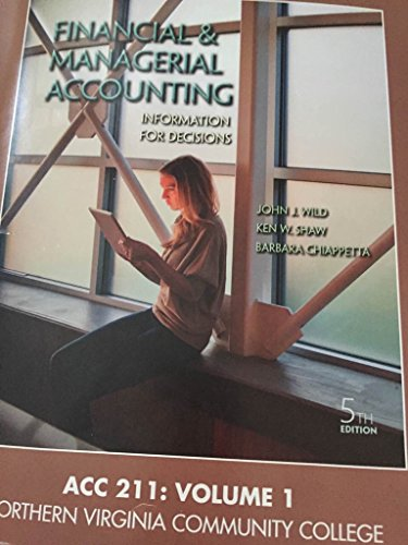 9781259334962: Financial and Managerial Accounting 5th Edition (Paperback)