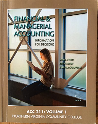 9781259335013: Financial and Managerial Accounting