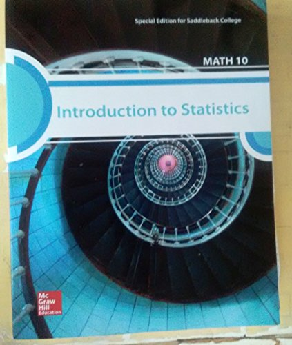 9781259338120: Introduction to Statistics MATH 10 - Special Edition for Saddleback College