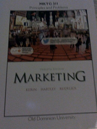 9781259339073: Marketing (MKTG 311) Principles and Problems