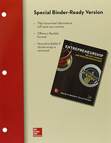 9781259341274: Loose-Leaf for Entrepreneurship: The Art, Science, and Process for Success, 2e