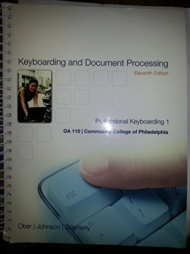 9781259343438: Gregg College Keyboarding & Document Processing: Lessons 1-60 (Custom Edition for Community College of Philadelphia)