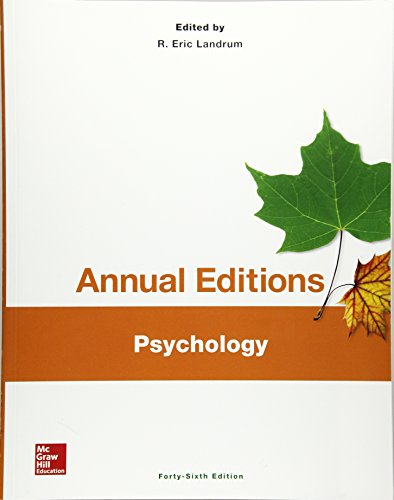 9781259345241: Annual Editions: Psychology, 46/e