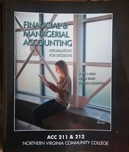 9781259347610: Financial & Managerial Accounting: Information for Decisions, 5th edition, ACC 211 & 212, Northern Virginia Community College