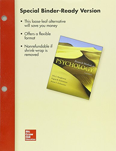 9781259350153: Looseleaf for Research Methods in Psychology