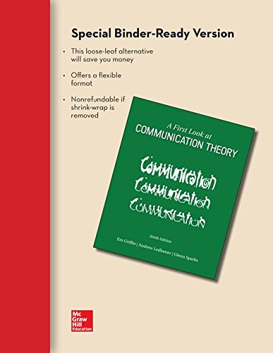9781259350184: Looseleaf for A First Look at Communication Theory