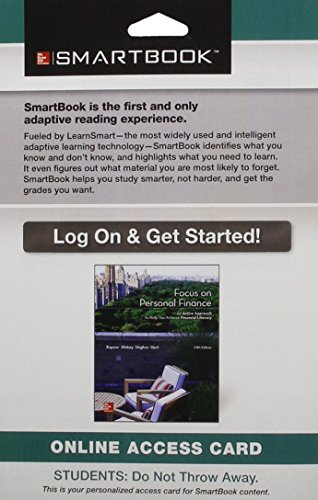 9781259355288: Smartbook Access Card for Focus on Personal Finance