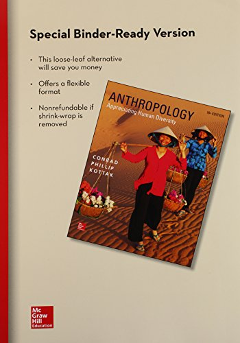 9781259358265: Looseleaf for Anthropology: Appreciating Human Diversity