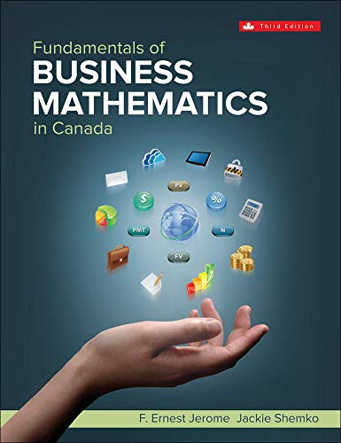 Fundamentals Of Business Mathematics In Canada: F. Ernest Jerome