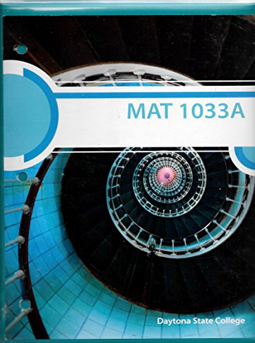 9781259382093: MATT 1033A - Daytona State College