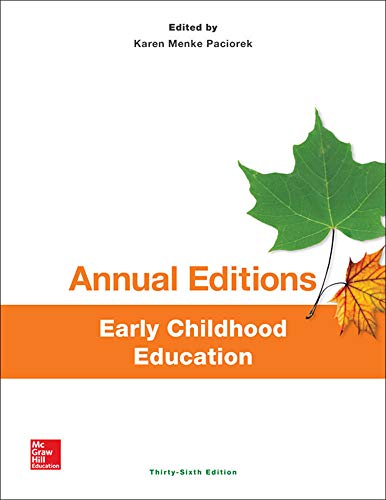 9781259384684: Annual Editions: Early Childhood Education, 36/e