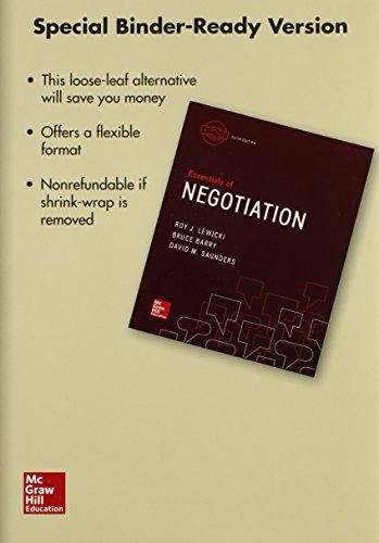 9781259389429: Essentials of Negotiation