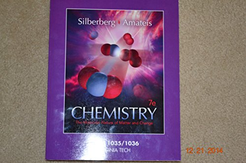 9781259389702: Chemistry The Molecular Nature of Matter and Change Chem 1035/1036 Virginia Tech