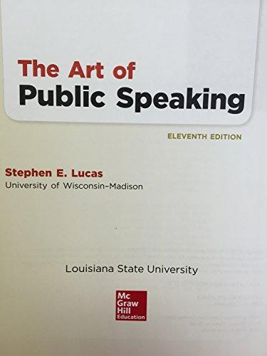 9781259390463: THE ART OF PUBLIC SPEAKING