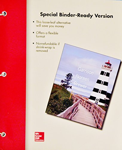 9781259395727: Managerial Accounting: Fifteenth Edition, Special Binder-Ready Version