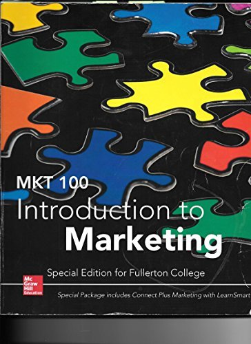 9781259400995: MKT 100 Introduction to Marketing Special Edition for Fullerton College