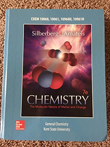 9781259406508: Chemistry: The Molecular Nature of Matter and Change 7th Edition (Including Printed Access Code) by Silberberg; Amateis (2014-05-04)