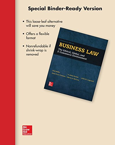 Business Law: The Ethical, Global, and E-commerce Environment: Mallor, Jane/ Barnes, A. James/ ...