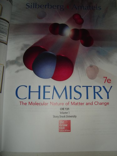 Chemistry the Molecular Nature of Matter and Change Custom Stony Brook Edition !! Paperback Ch. 1-...