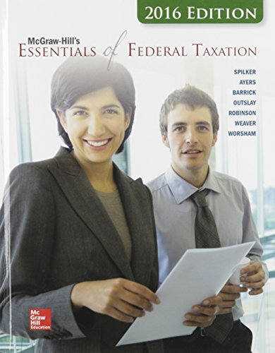 9781259415050: McGraw-Hill's Essentials of Federal Taxation, 2016 Edition (Irwin Accounting)