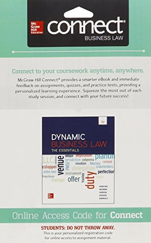 9781259415364: Connect 1 Semester Access Card for Dynamic Business Law: The Essentials