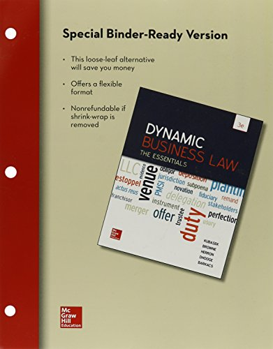 9781259415685: Loose-Leaf for Dynamic Business Law: The Essentials