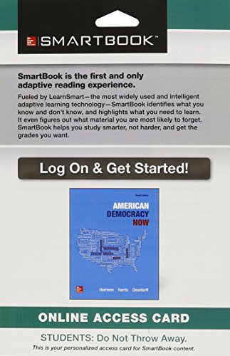 9781259417443: SmartBook Access Card for American Democracy Now