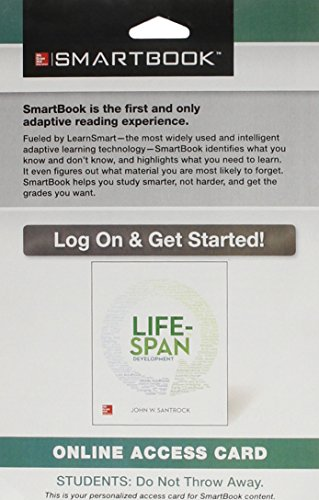 9781259417566: SmartBook Access Card for Life-Span Development