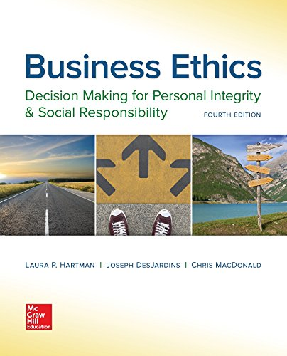 Business Ethics: Decision Making for Personal Integrity: Hartman, Laura P.;