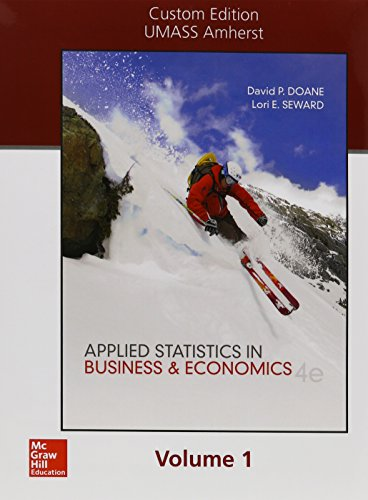 9781259419409: LSC (UNIV OF MASS AMHERST) RES EC 212: PPK Applied Statistics in Business and Economics Volume 1 Chapters 1-9 with Mini Tab and Connect Plus 1 semester UPDATE