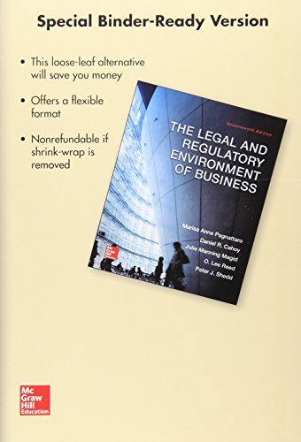 Loose-Leaf for the Legal and Regulatory Environment of Business (Hardback): Marisa Pagnattaro, ...