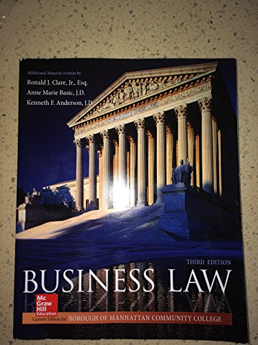 9781259428166: BMCC Business Law 3rd Edition