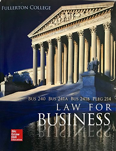 9781259428296: Law for Business(fullerton College)