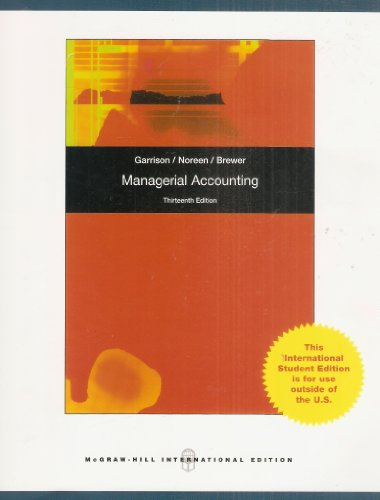 9781259431418: Managerial Accounting International Edition