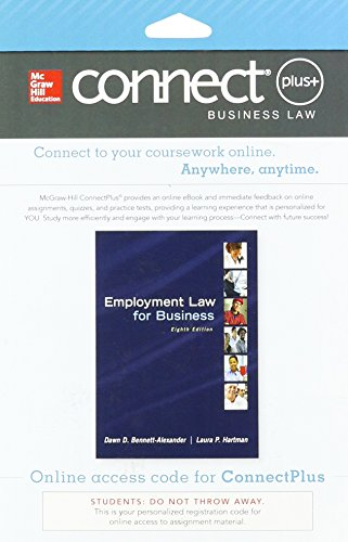 9781259440199: Connect Access Card for Employment Law