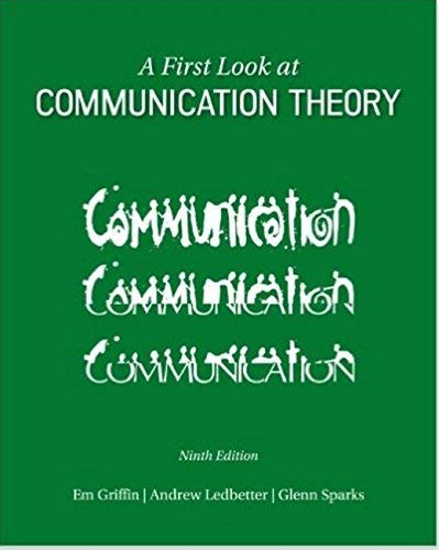 9781259445361: FIRST LOOK AT COMMUNICATION THEORY [Paperback] [2015] GRIFFIN