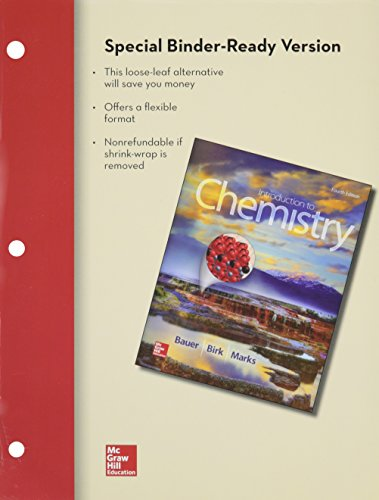 9781259545146: Combo: Loose Leaf for Introduction to Chemistry with Connect Access Card Chemistry with LearnSmart 1 Semester Access Card