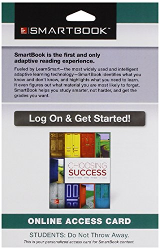 9781259547683: SmartBook Access Card for Choosing Success