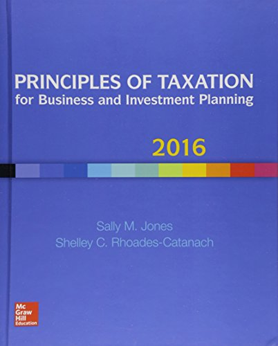 9781259549250: Principles of Taxation for Business and Investment Planning 2016 Edition