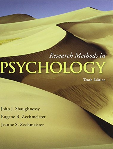 9781259566448: Research Methods in Psychology with Connect Access Card