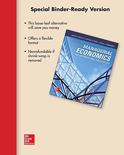 9781259577666: Loose Leaf Managerial Economics & Organizational Architecture