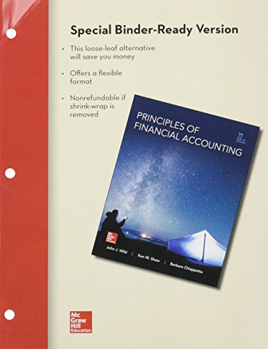 9781259582394: Loose Leaf for Principles of Financial Accounting Chapters 1-17 and Connect Access Card