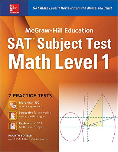 9781259583698: McGraw-Hill Education SAT Subject Test Math Level 1 4th Ed.